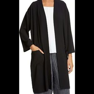 Eileen Fisher SZ Large Long Cardigan With Pockets